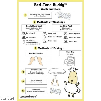 Bed-Time Buddy Big Sheepz White with Color & Stripe tag - XL